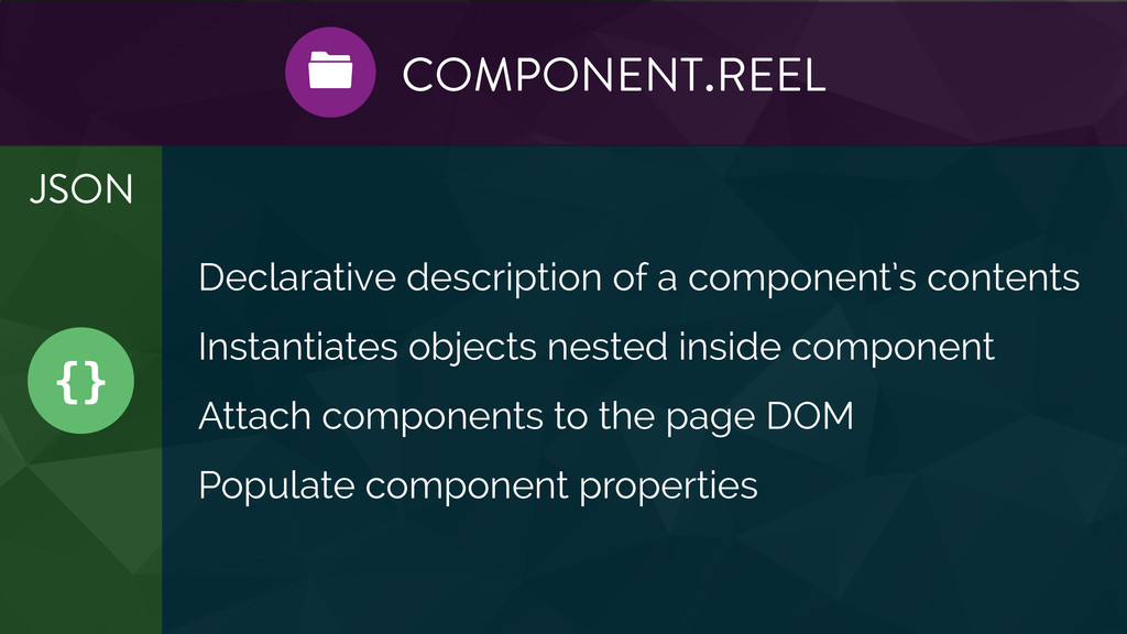 {} JSON COMPONENT.REEL  Declarative descriptio...