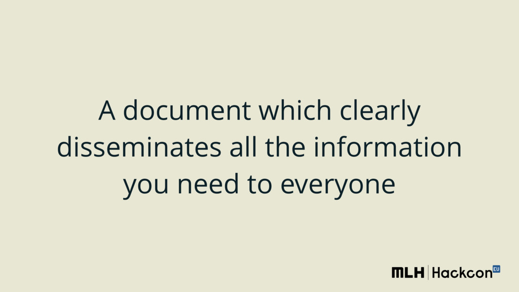 A document which clearly disseminates all the i...