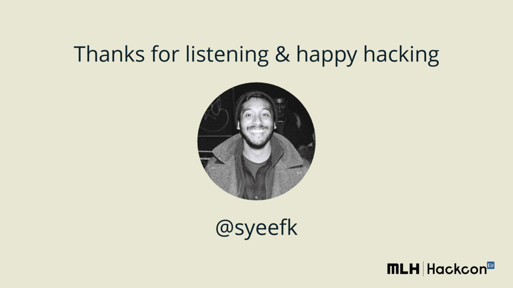 @syeefk Thanks for listening & happy hacking