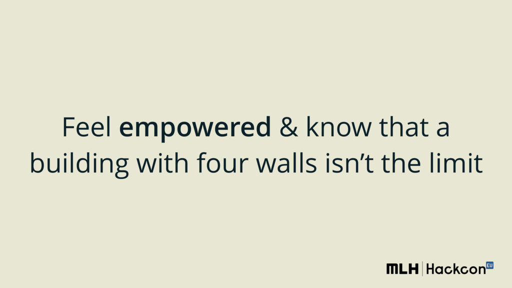Feel empowered & know that a building with four...