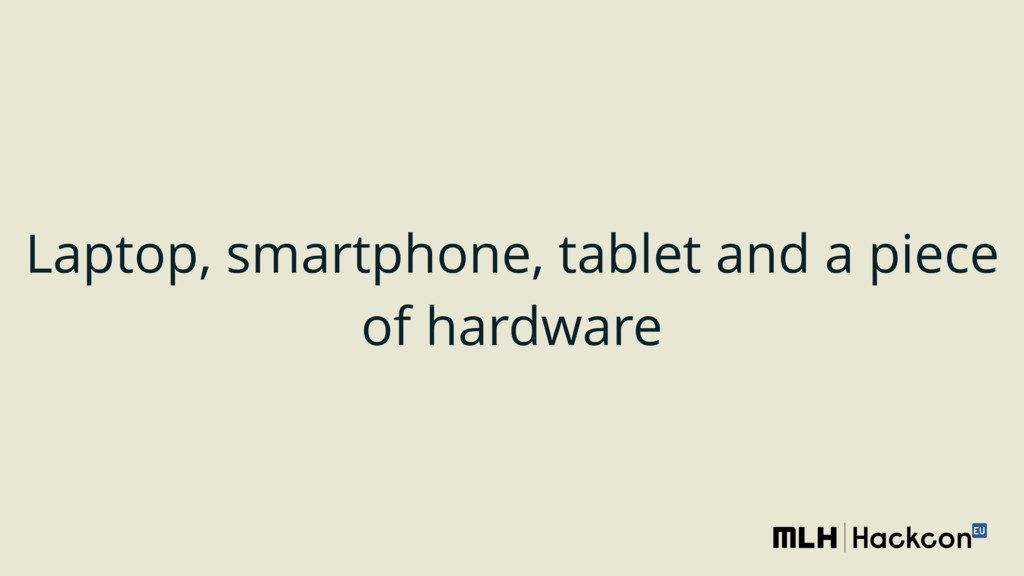 Laptop, smartphone, tablet and a piece of hardw...