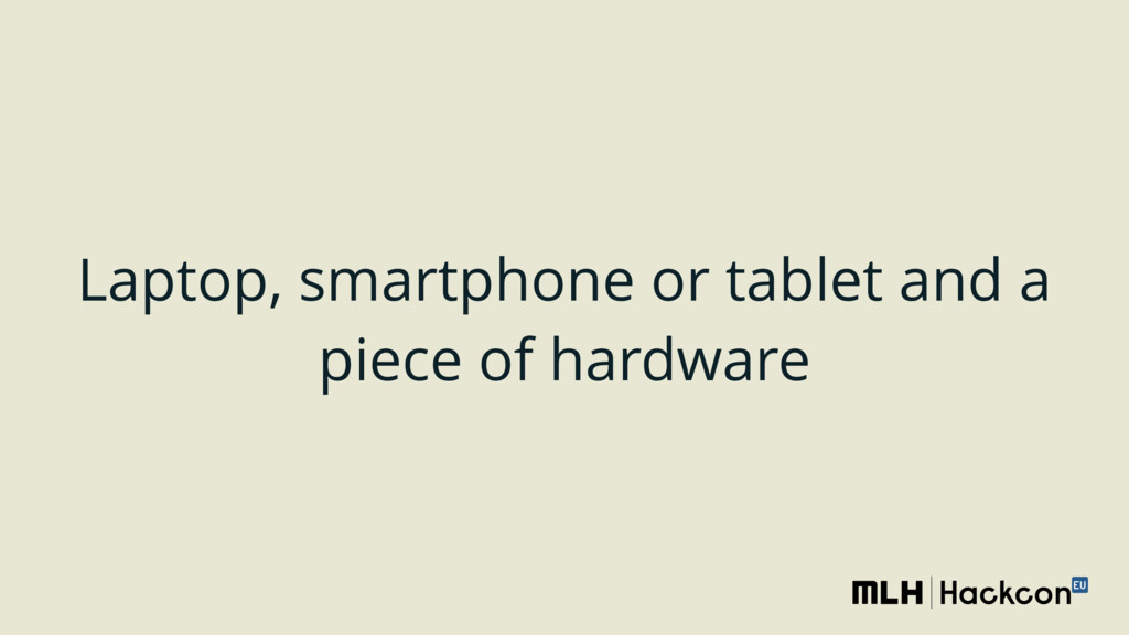 Laptop, smartphone or tablet and a piece of har...