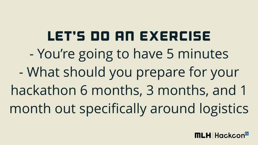 LET'S DO AN EXERCISE - You're going to have 5 ...