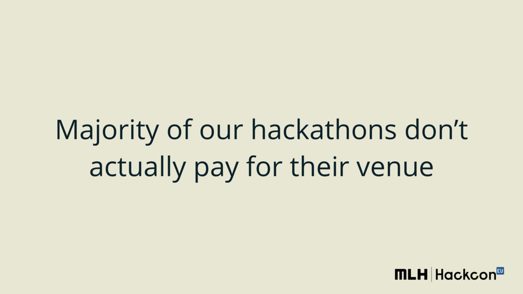 Majority of our hackathons don't actually pay f...