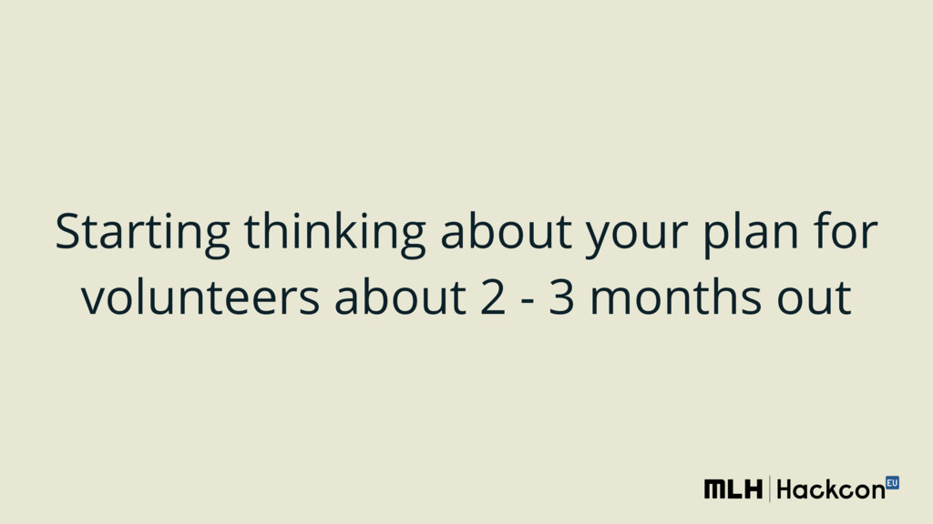 Starting thinking about your plan for volunteer...