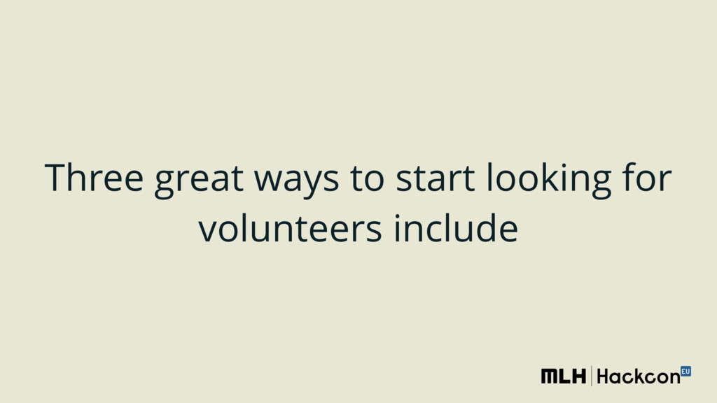 Three great ways to start looking for volunteer...