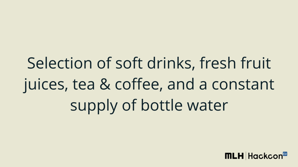 Selection of soft drinks, fresh fruit juices, t...