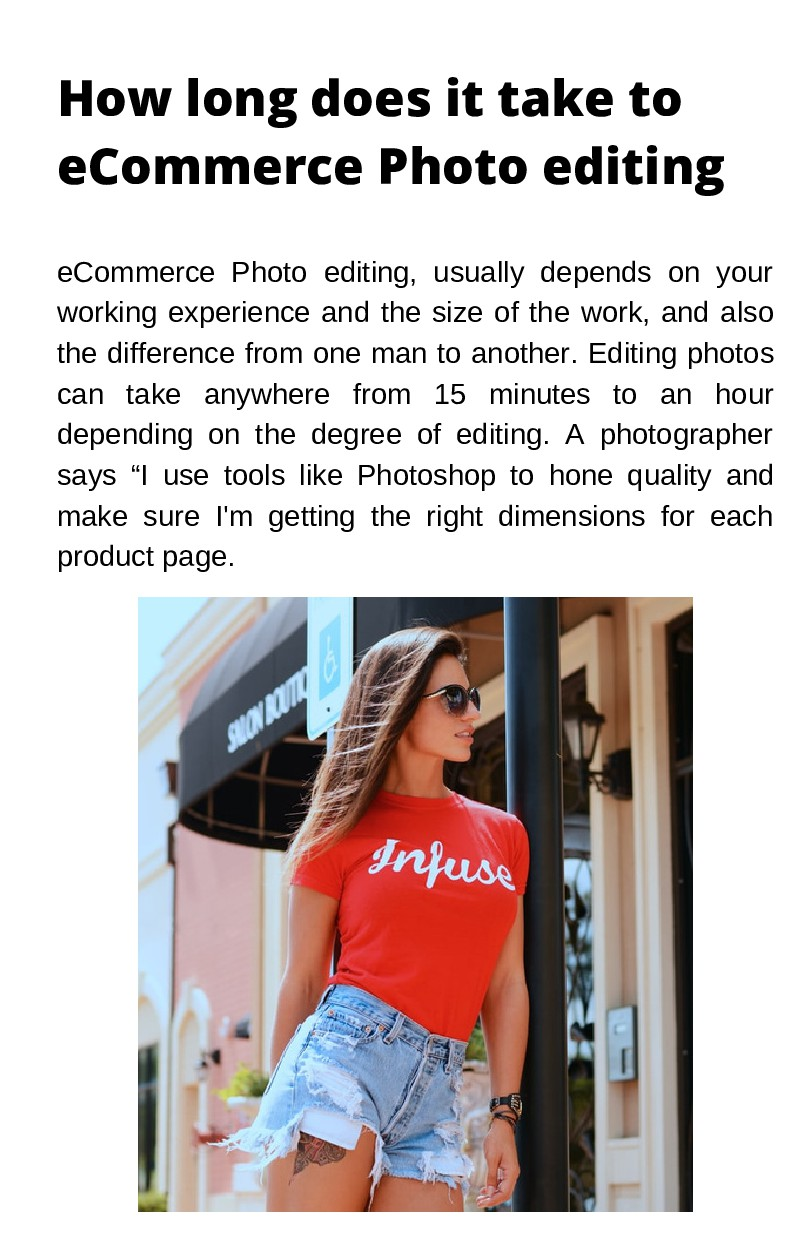 How long does it take to eCommerce Photo editin...