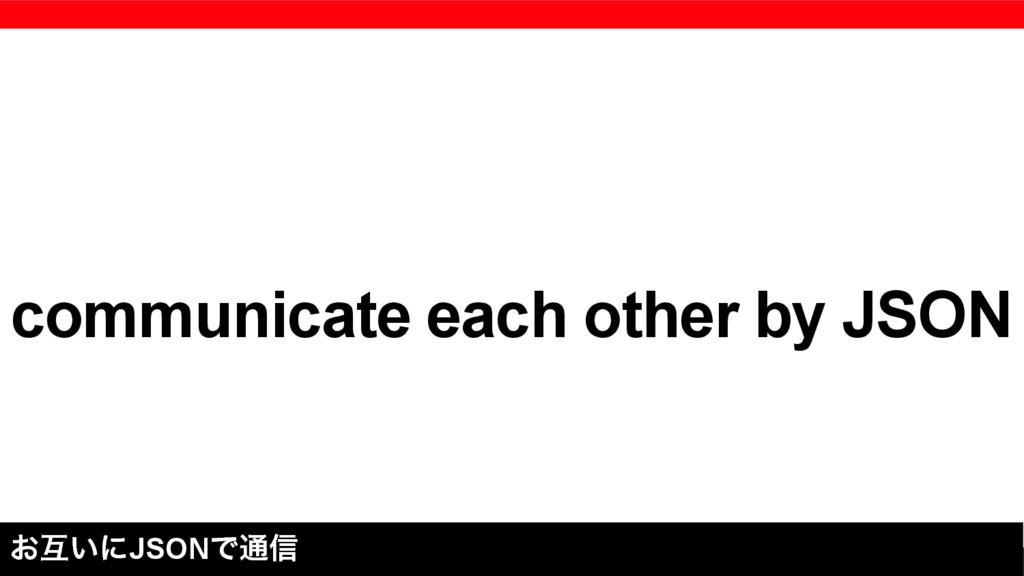 communicate each other by JSON ͓ޓ͍ʹJSONͰ௨৴
