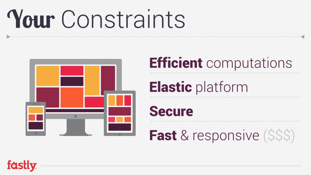 Your Constraints Efficient computations Elastic...