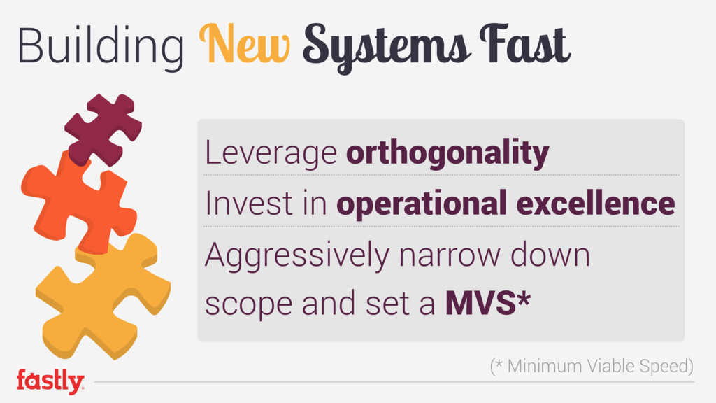 Building New Systems Fast Leverage orthogonalit...