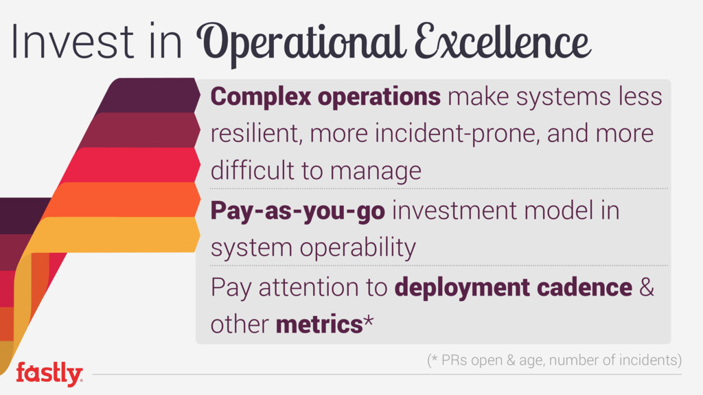 Complex operations make systems less resilient,...