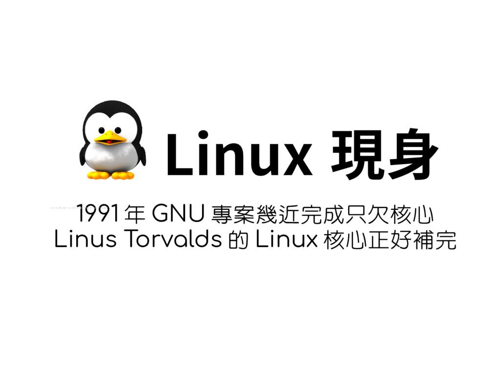 Linux 現身 1991 年 GNU 專案幾近完成只欠核心 Linus Torvalds 的...