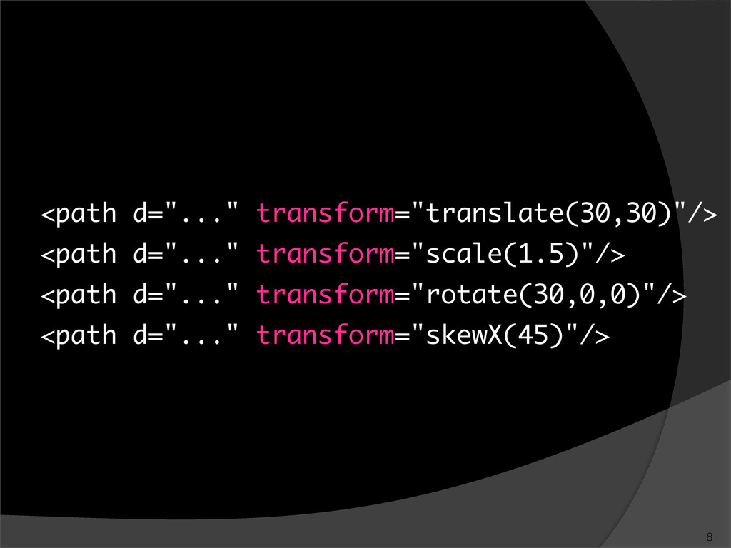 "<path d=""..."" transform=""translate(30,30)""/> <p..."