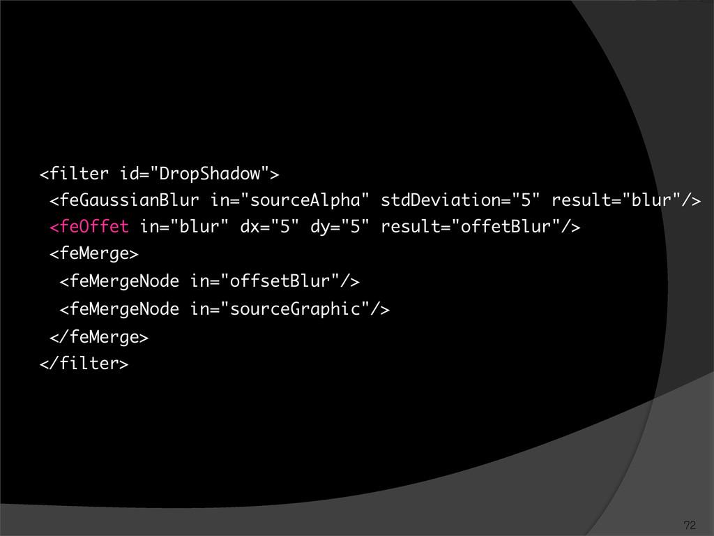 "<filter id=""DropShadow""> <feGaussianBlur in=""so..."