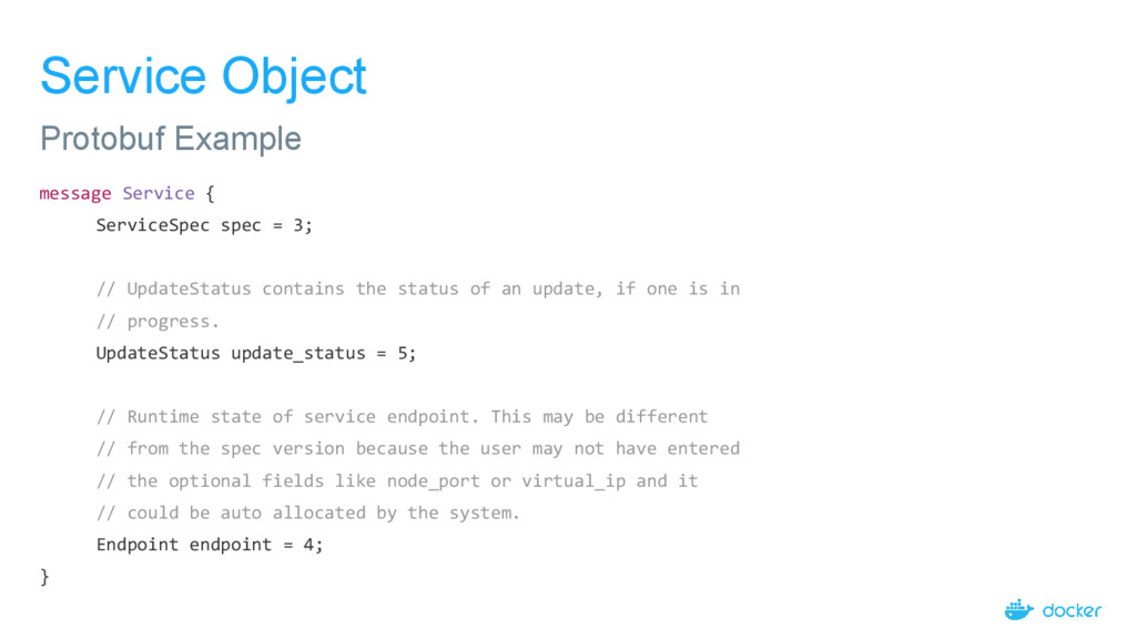 Service Object message Service { ServiceSpec sp...