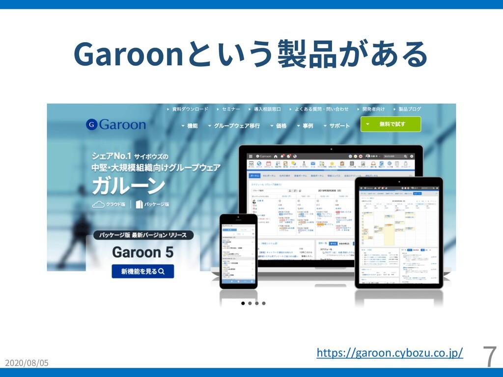 Garoonという製品がある 2020/08/05 7 https://garoon.cybo...