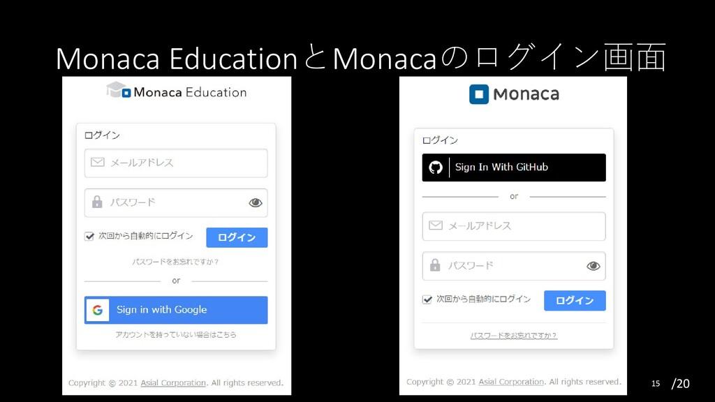 /20 Monaca EducationとMonacaのログイン画面 15