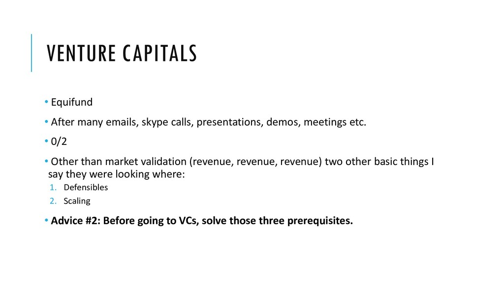 VENTURE CAPITALS • Equifund • After many emails...