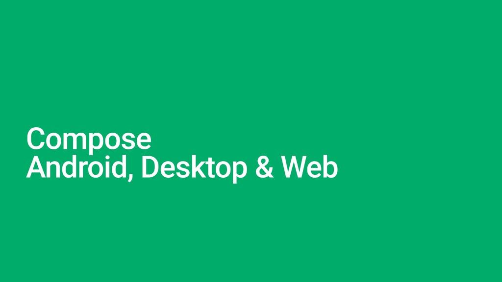 Compose   Android, Desktop & Web
