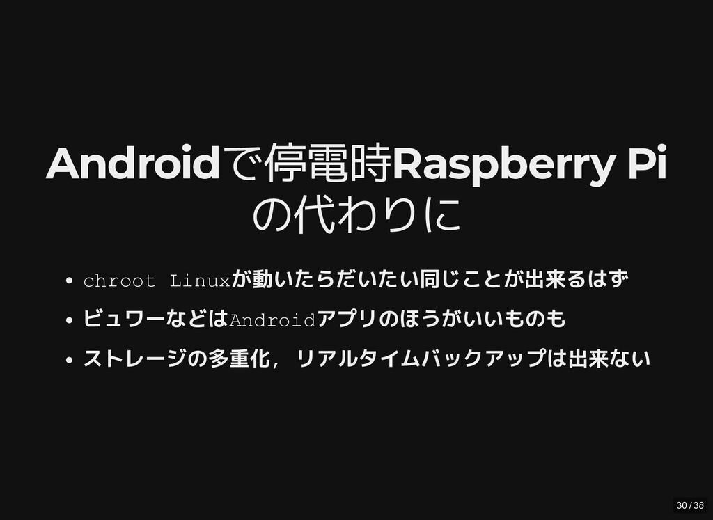 / Androidで停電時Raspberry Pi Androidで停電時Raspberry ...