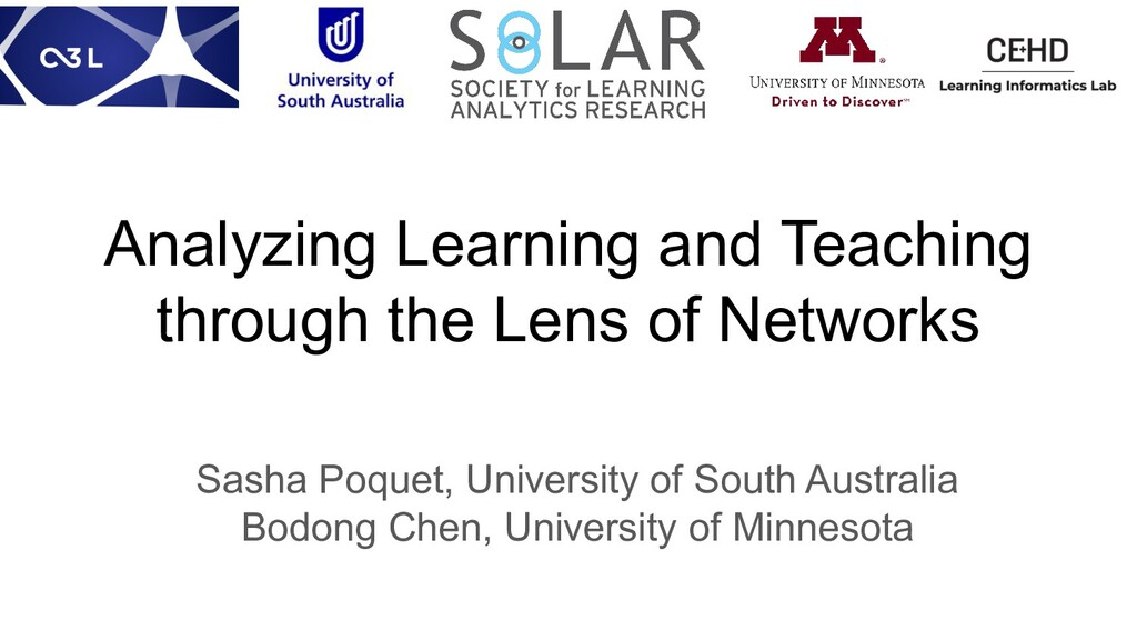 Analyzing Learning and Teaching through the Len...