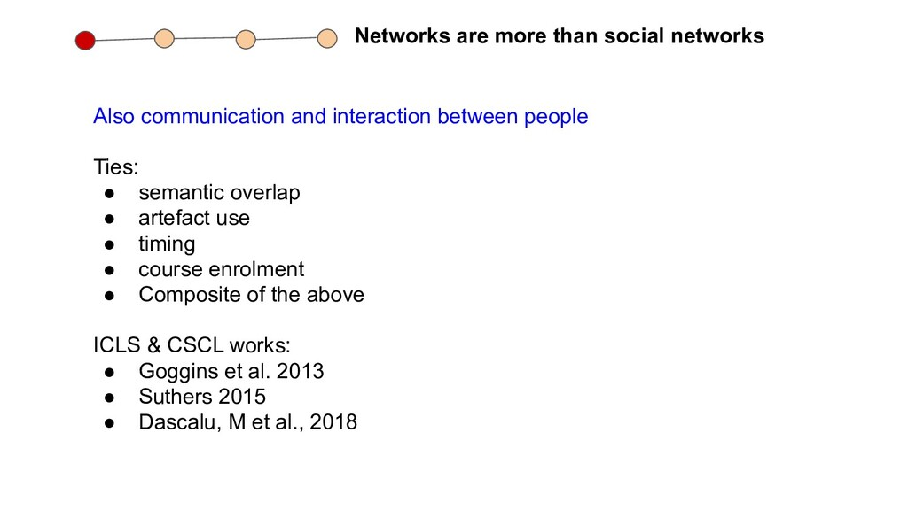 Networks are more than social networks Also com...