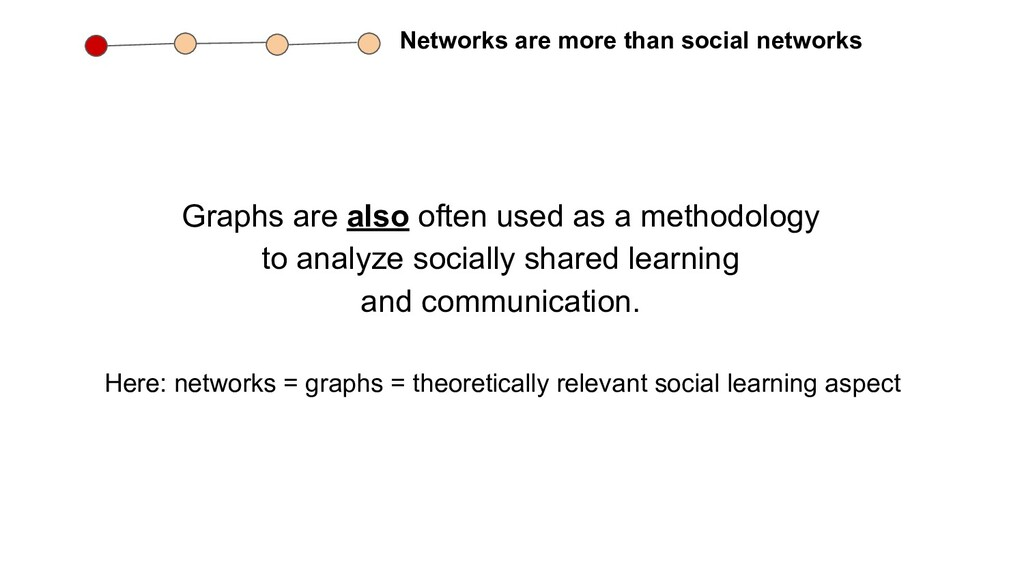 Networks are more than social networks Graphs a...