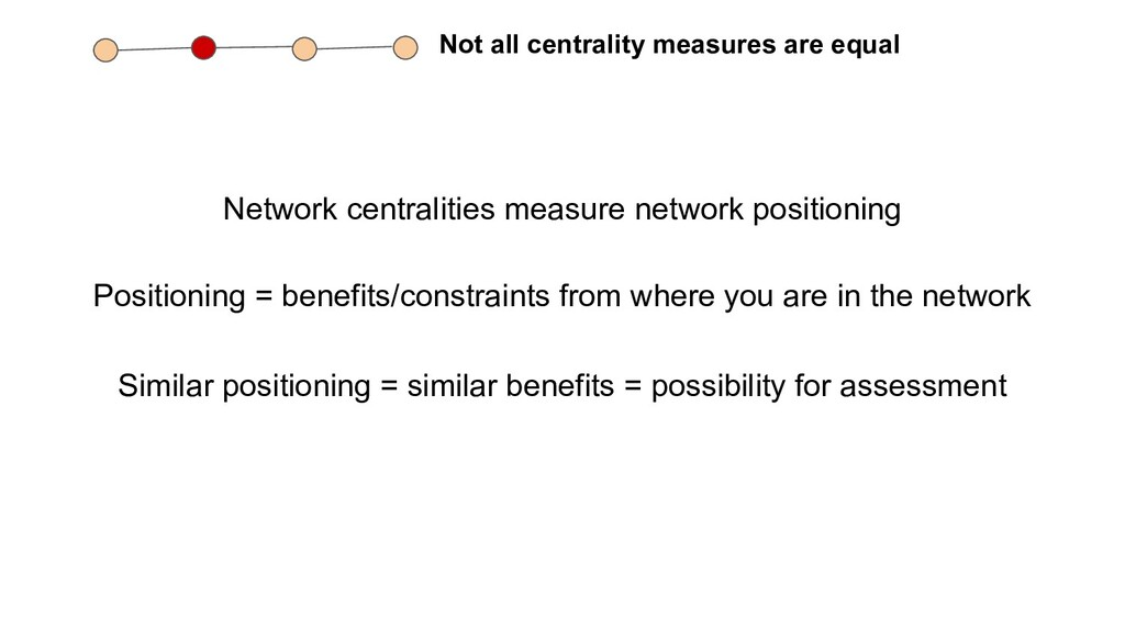 Not all centrality measures are equal Network c...