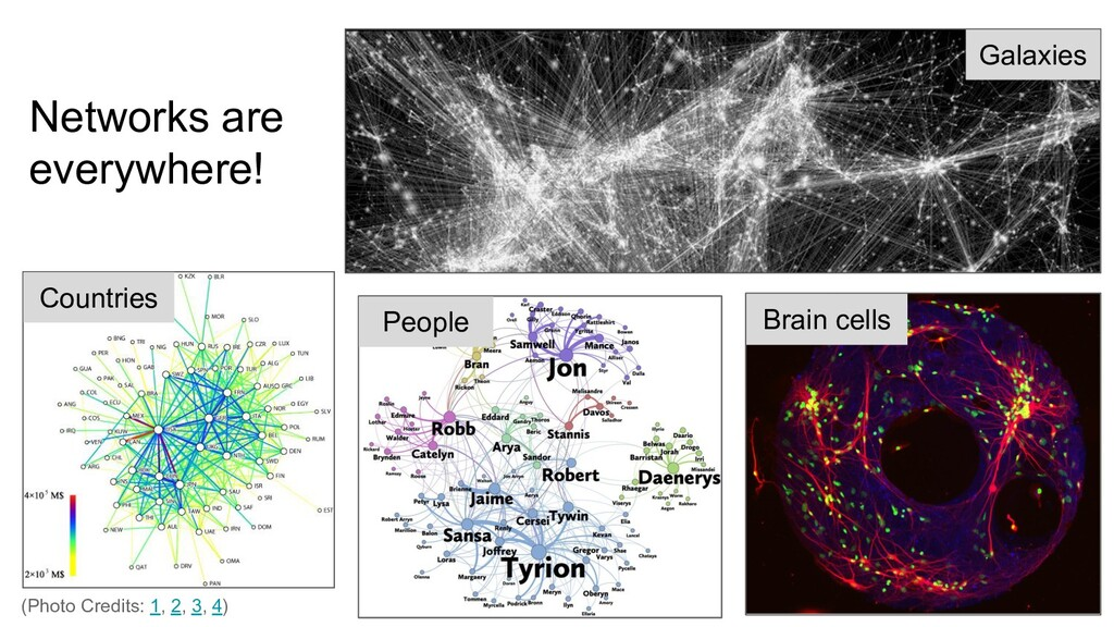 Networks are everywhere! Galaxies Brain cells C...
