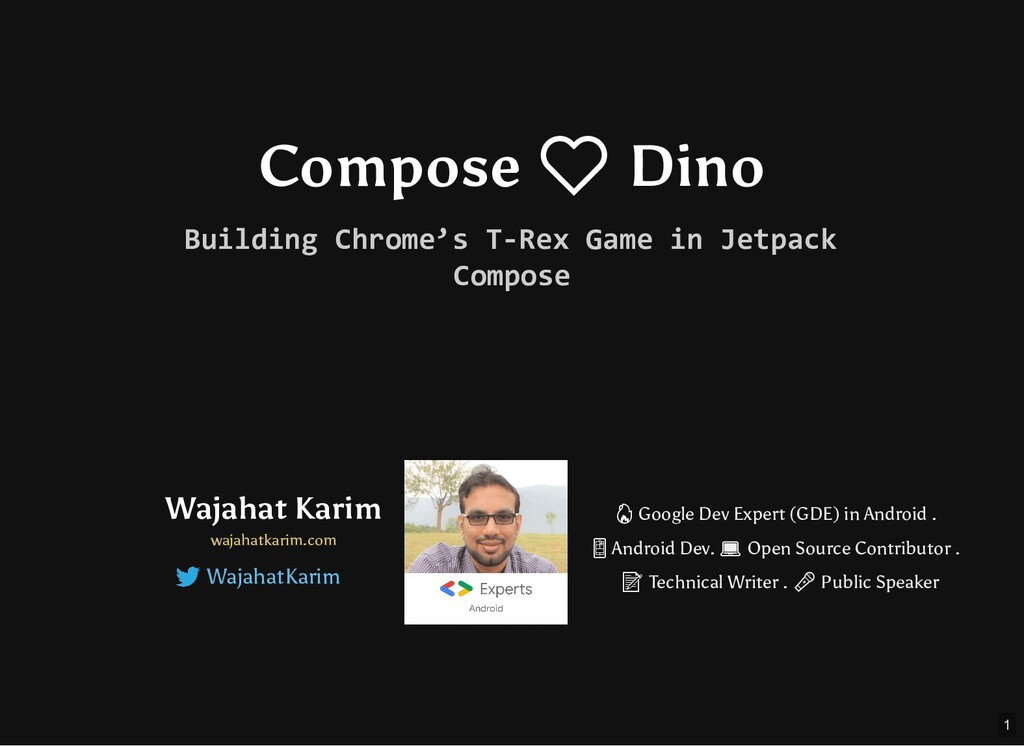 Compose ❤ Dino Building Chrome's T-Rex Game in ...