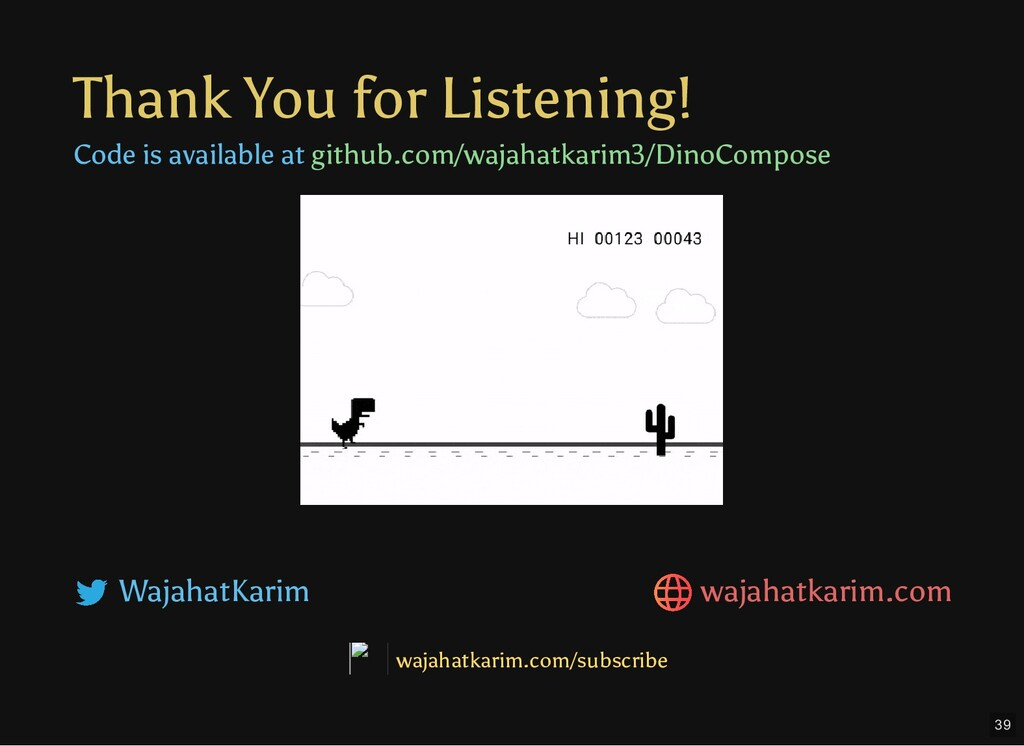 Thank You for Listening! Code is available at g...