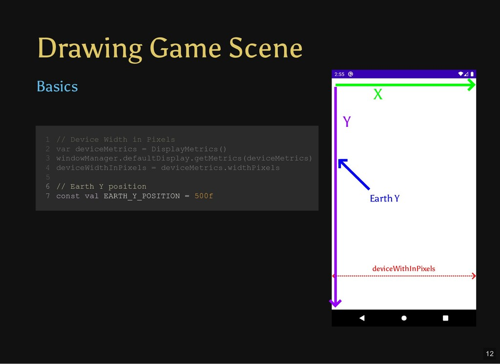 Drawing Game Scene Basics // Device Width in Pi...