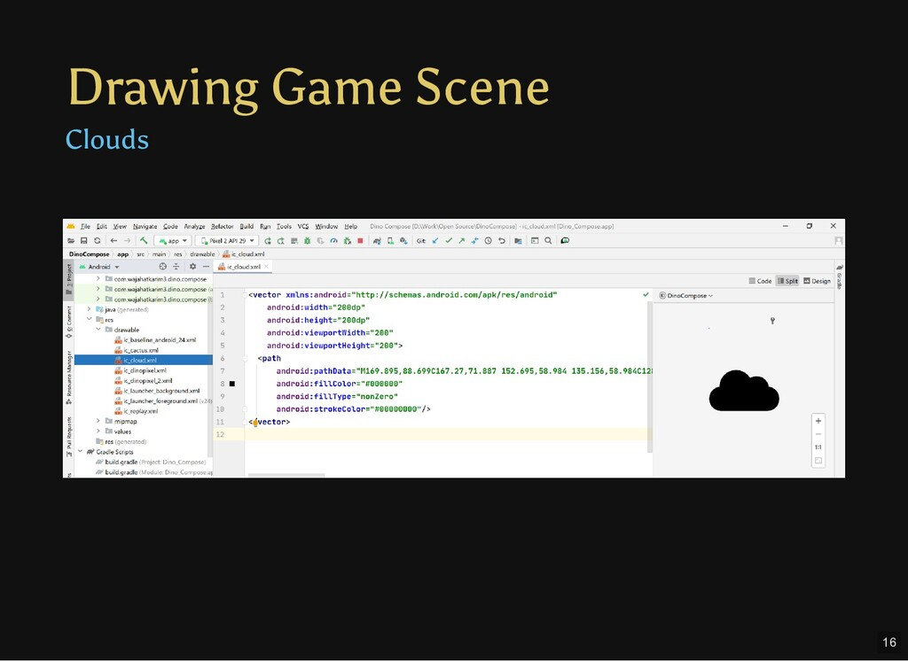 Drawing Game Scene Clouds Text 16