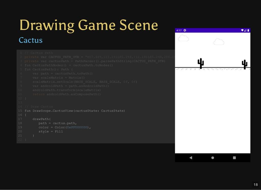 Drawing Game Scene Cactus // Cactus Path privat...