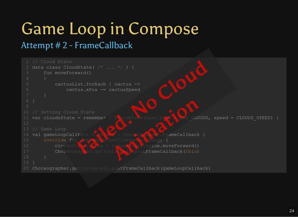 Game Loop in Compose Attempt # 2 - FrameCallbac...