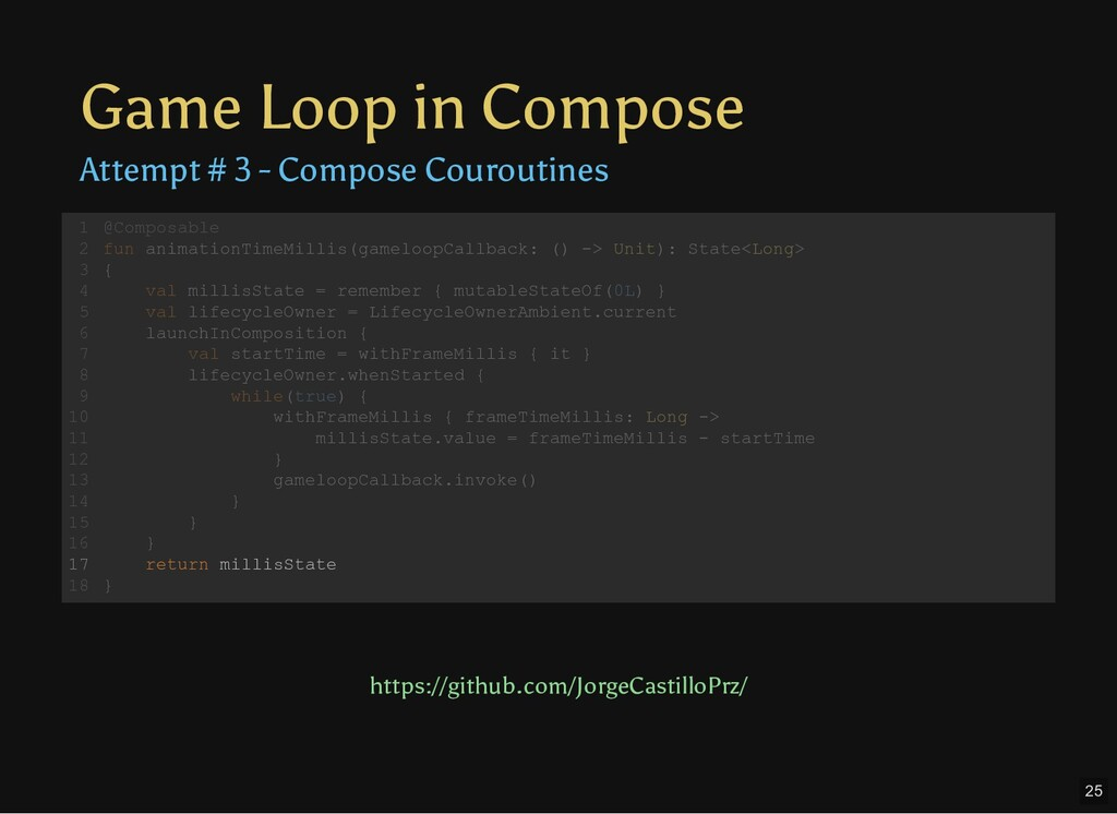 Game Loop in Compose Attempt # 3 - Compose Cour...