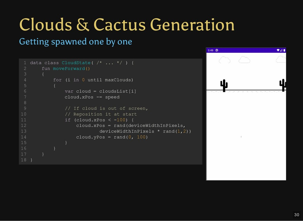 Clouds & Cactus Generation Getting spawned one ...