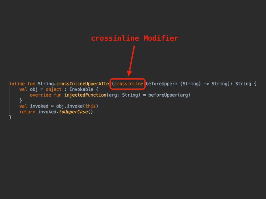 crossinline Modifier