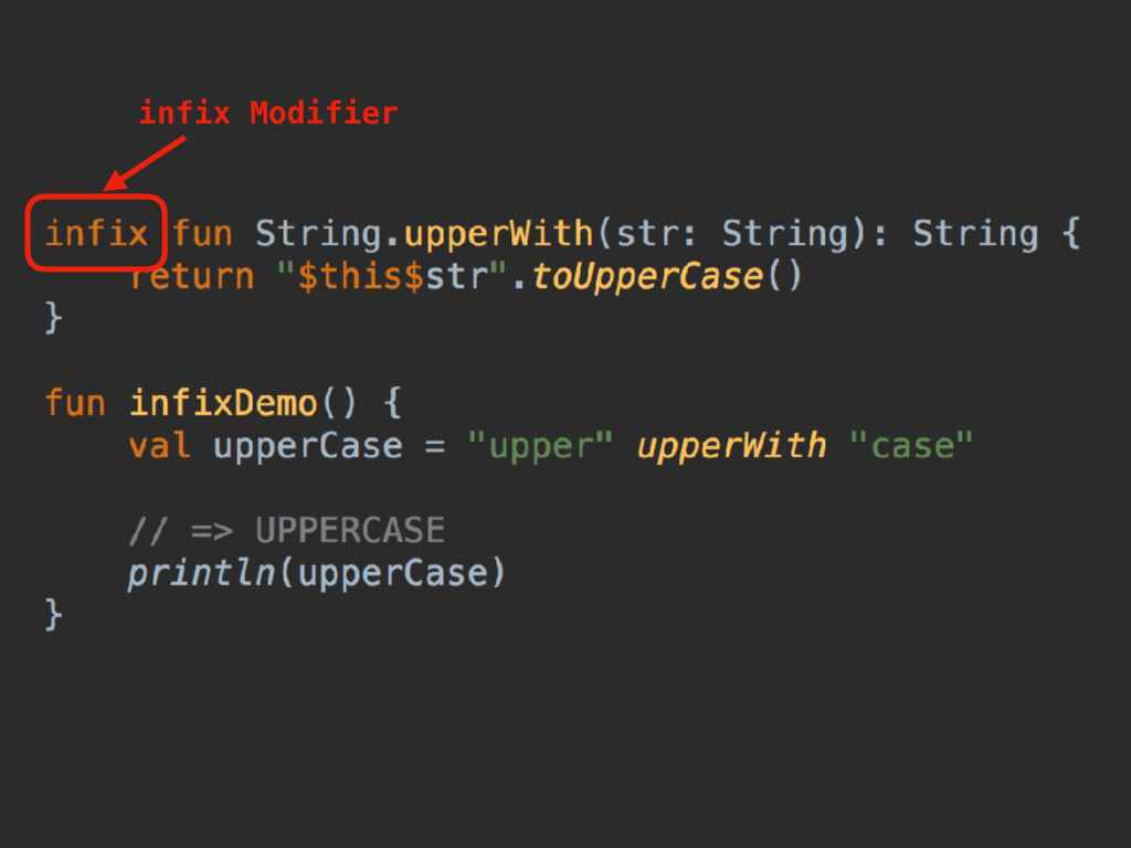 infix Modifier