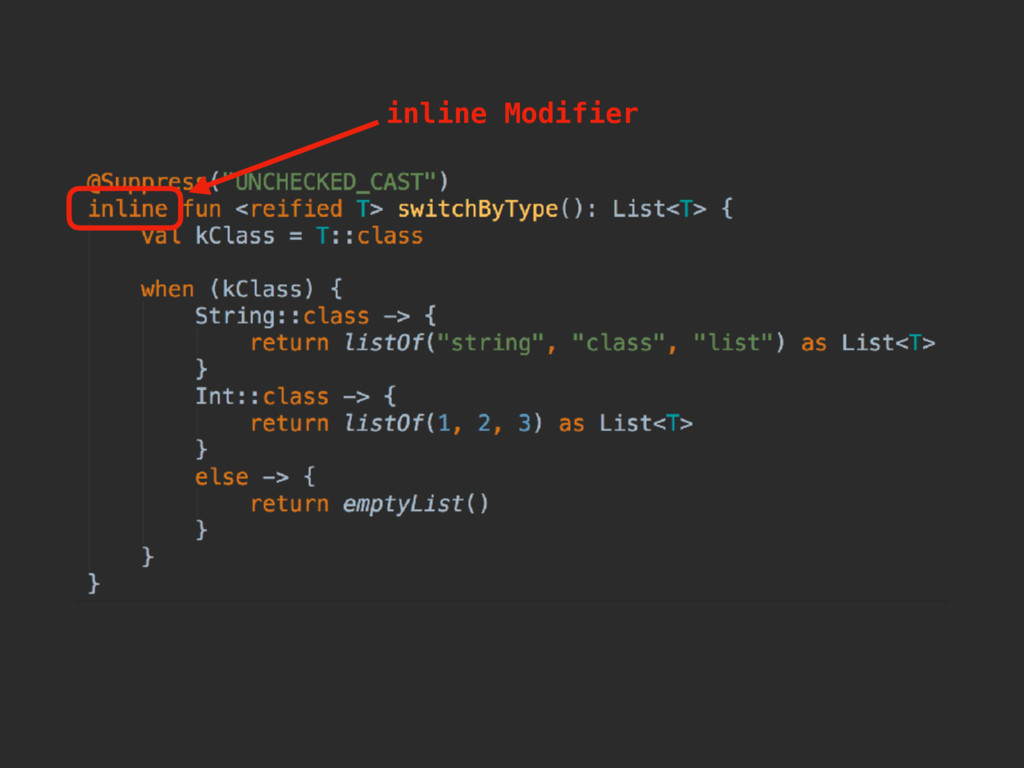 inline Modifier