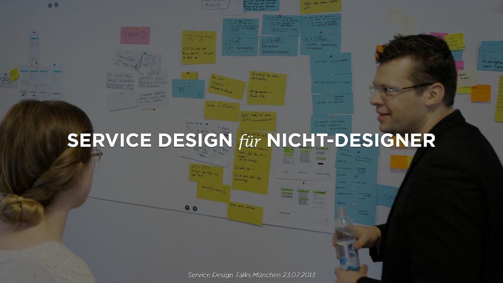 SERVICE DESIGN für NICHT-DESIGNER Service Desig...
