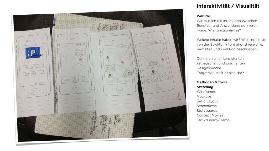 Interaktivität / Visualität Warum? Wir müssen d...