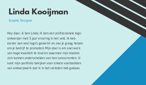 Linda Kooijman Graphic Designer Hey daar, ik be...