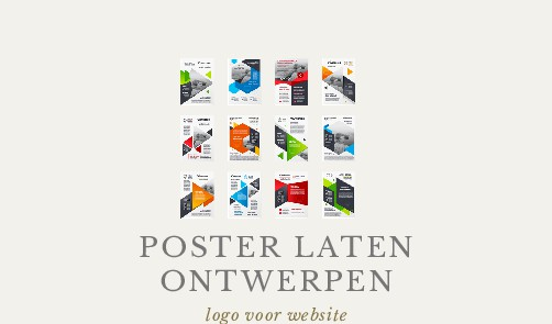 POSTER LATEN ONTWERPEN logo voor website