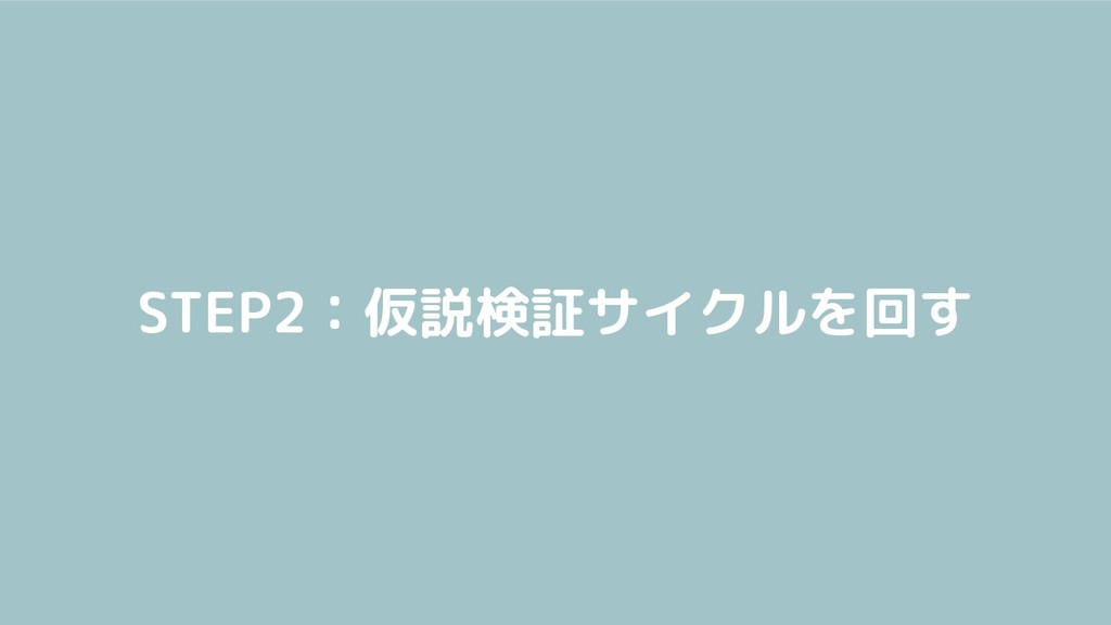 STEP2:仮説検証サイクルを回す