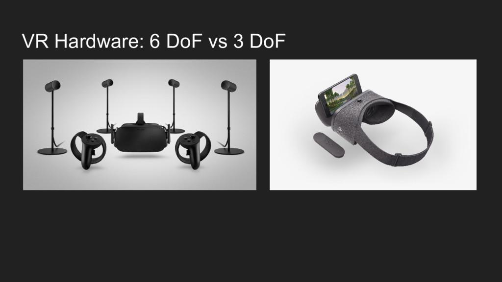 VR Hardware: 6 DoF vs 3 DoF