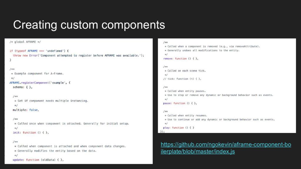 Creating custom components https://github.com/n...