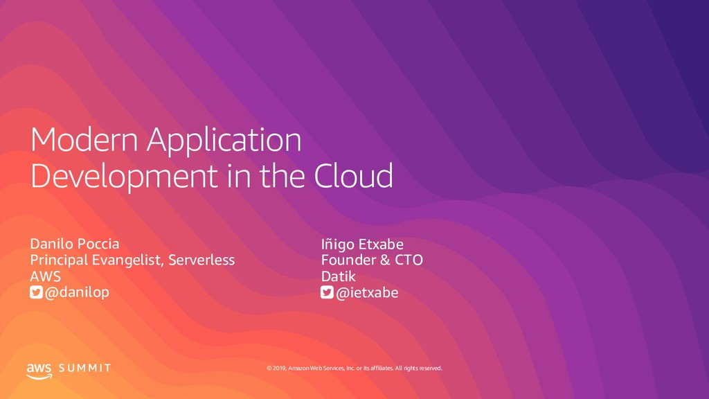 Modern Application Development in the Cloud