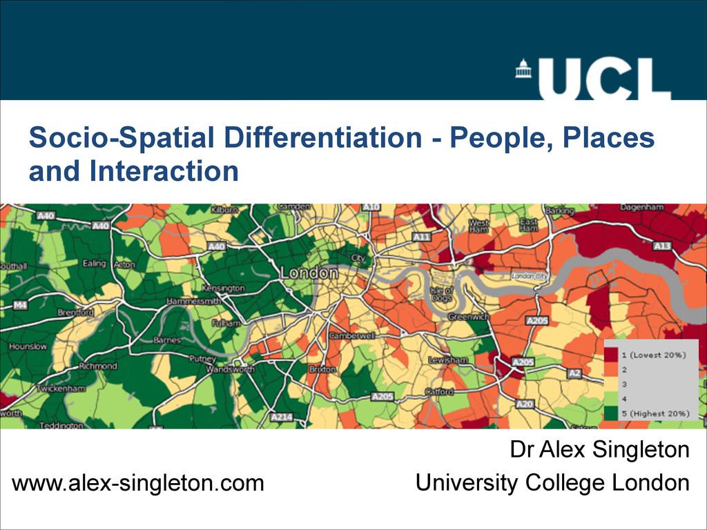 Socio-Spatial Differentiation - People, Places ...